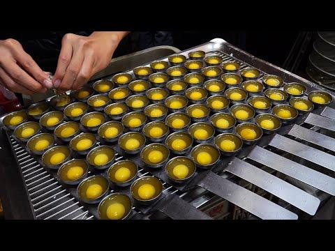 한번에 굽는 메추리알 튀김 / fried quail eggs at once / taiwanese street food