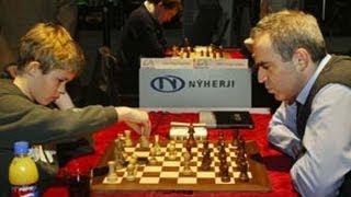 Magnus Carlsen Beats Kasparov's Slav Defense 😱 ... Almost (Magnus Carlsen vs Garry Kasparov)