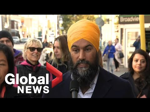Canada Election: Jagmeet Singh speaks in Toronto about what sets NDP apart