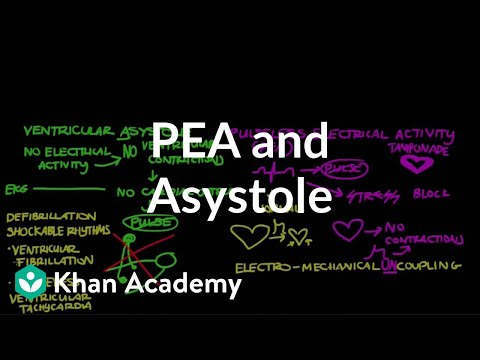 Video Pulseless electrical activity (PEA) and asystole | NCLEX-RN | Khan Academy