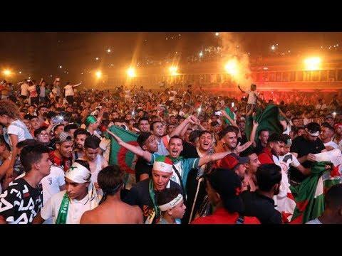 غززة تنبه العدو الصهيوني بطريقة احتفالهم الحربية بتتويج منتخب الجزائر2019
