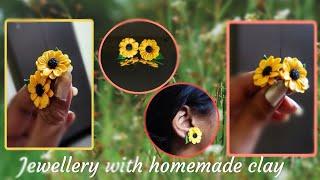 Handmade Jewellery With Homemade Clay   Polymer Clay Ear Stud