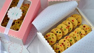 Eggless Tutti Frutti Cookies | Fruit cookies | karachi biscuits