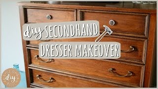 DIY Bedroom Furniture?! Secondhand Dresser Makeover