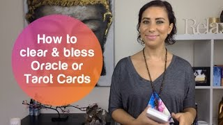 How to bless Oracle & Tarot Cards