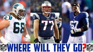 2018 NFL FREE AGENCY PREDICTIONS - ANDREW NORWELL NATE SOLDER JUSTIN PUGH Panthers Patriots Giants