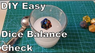 How To Check The Balance Of Your Dice | DIY Easy Trick