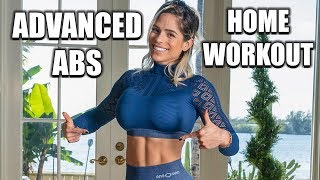 MICHELLE LEWIN: 5 ADVANCED Home Exercises For Abs (No Equipment Or Gym Needed)