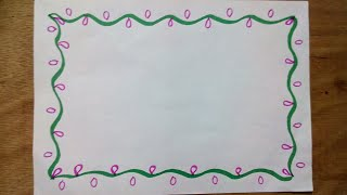 How to make easy page border | page border | easy page border design for assignment, project, School
