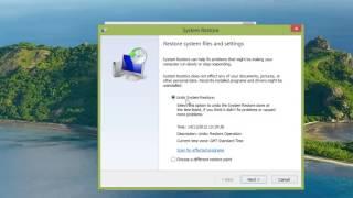 How To Undo Windows 8 System Restore