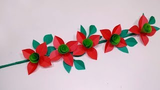 Stick Flower: Easy Paper Stick Flower Making Idea | DIY Paper Stick Flower | Abigail Paper Crafts