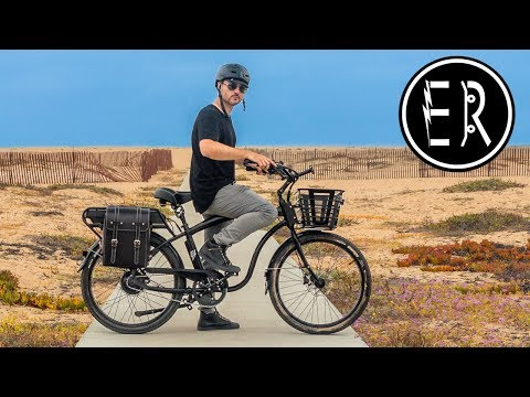 Electric Bike Beach Day Adventure with the Model C Classic Cruiser: Best, Fastest Cruiser in 2018