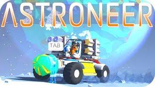 Astroneer Gameplay: MOON BASE ALPHA!  •EXCAVATION UPDATE•  Let's Play Astroneer #8