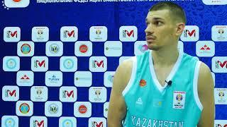 Интервью с игроками сборной Казахстана после матча Казахстан - Иран