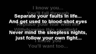 Evans Blue - A step Back (With Lyrics)