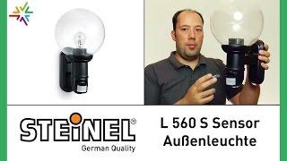 STEINEL L 560 S - Design Sensor Außenleuchte [watt24-Video Nr. 109]