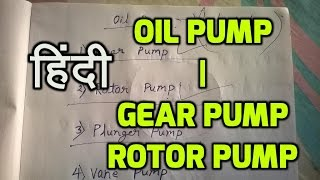 Automobile Hindi | Oil pump in hindi