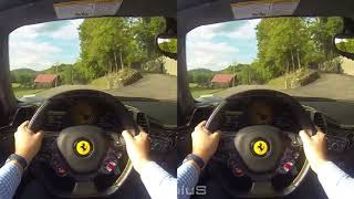 VR, Conduce un Ferrari 458 Spider POV, VR box 3D SBS
