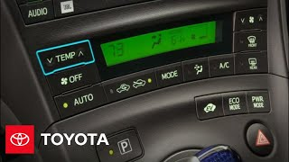 2011 Prius How-To: Climate Control   Toyota