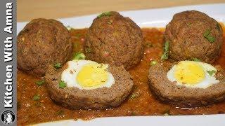 Nargisi Kofta Recipe With Safety Idea - Special Eid ul Adha Recipes - Kitchen With Amna