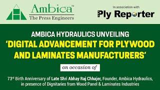 LIVE! Ambica Hydraulics | Ply Reporter | Remembering Shri Abhay Raj Chhajer, Founder, Ambica Press