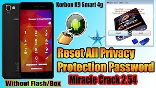 Bypass All Privacy Protection Password Lock Karbonn K9 Smart 4g By Miracle Box 2.54 Anti Theft