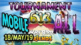 Angry Birds Friends All Levels MOBILE Tournament 613 Highscore POWER-UP walkthrough #AngryBirds