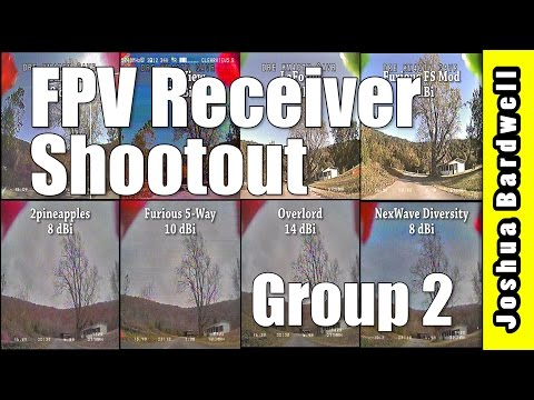 2pineapples, Overlord, Furious 5-Way, Nexwave Diversity | FPV RECEIVER COMPARISON GROUP TWO