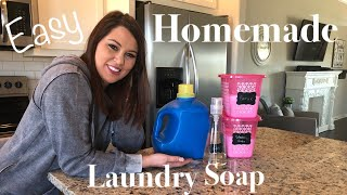 HOMEMADE LAUNDRY DETERGENT | QUICK & EASY | DIY LAUNDRY SOAP