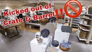 Crate And Barrel Shop With Me January 2020 * I Got Kicked Out!!!