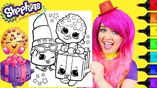 Coloring Shopkins Miss Pressy & Kooky Cookie Coloring Page Prismacolor Markers | KiMMi THE CLOWN