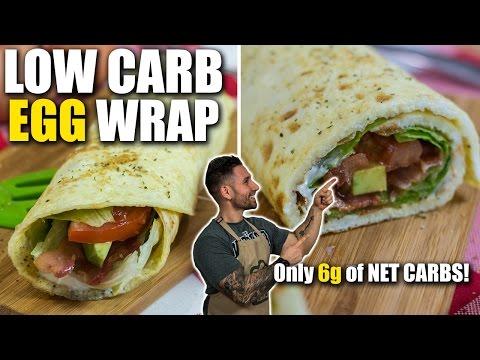 Video LOW CARB BREAKFAST EGG BURRITO RECIPE