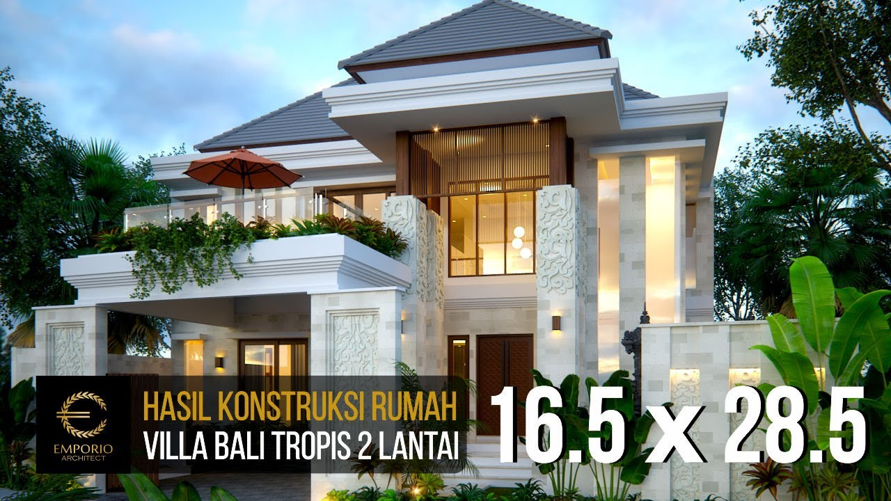 Video Hasil Konstruksi Mr. Rivan Villa Bali House 2 Floors Design - Nusa Dua, Bali