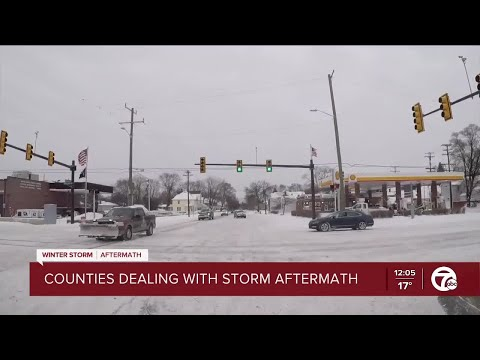Counties dealing with storm aftermath
