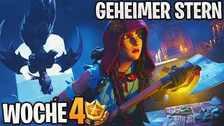 Geheimer BONUS STERN Woche 4 ⭐ (1 Battle Pass Level) | Season 6 | Fortnite Battle Royale | Detu
