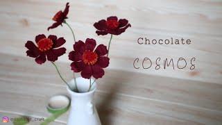Felt Flowers DIY - How to Make Chocolate Cosmos Felt Flower - Tutorial Felt #DIY (English Sub)