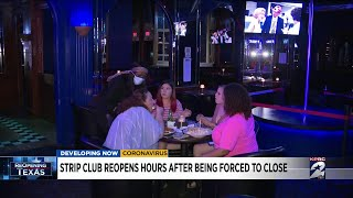 Houston strip club reopens hours after being forced to closed