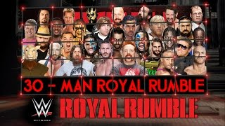 WWE Royal Rumble 2015 Match HD (2K15)