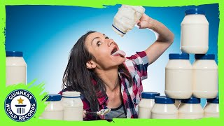 Eating 4 jars of mayonnaise! | Michelle Lesco - Meet The Record Breakers