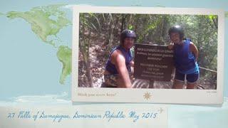 Chris Hughes Visiting The 27 Falls of Damajagua - Dominican Republic