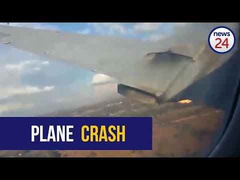 Footage recorded from inside plane during crash at Wonderboom, South Africa.