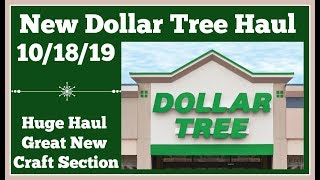 New Dollar Tree Haul 🤑 10/18/19. Huge craft haul and other goodies