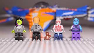 Lego Marvel Guardians Of The Galaxy Vol 2 - 76081 The Milano Vs The Abilisk Speed Build