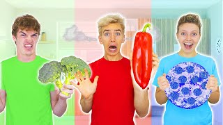 EATING ONLY ONE COLOR OF FOOD for 24 HOURS!! (Winner Gets $10,000)