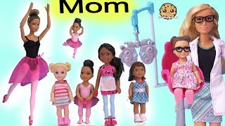What Does Your Mom Do ? Barbie Kids At Work With Mommy ! Toy Video