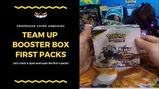 THAT NEW BOOSTER BOX SMELL! Unboxing Pokemon TCG Team Up Packs