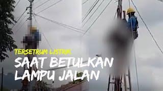 Pria Tewas Tersengat Listrik saat Betulkan Lampu Jalan di Sukoharjo