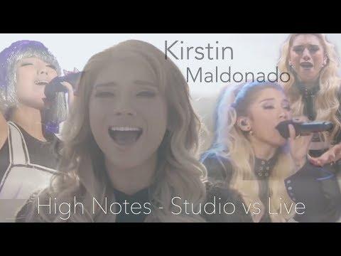Kirstin Maldonado - High Notes Studio vs Live