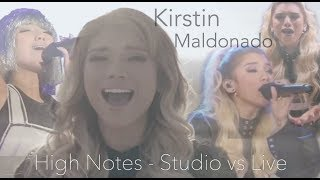 Кирсти Мальдонадо, Kirstin Maldonado - High Notes Studio vs Live