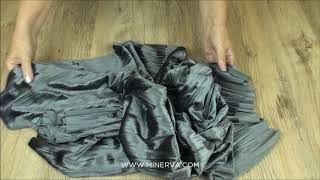 Pleated Texture Stretch Velvet Velour Dress Fabric